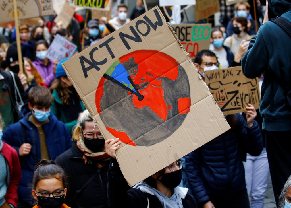 Campaigners stage climate protests across the world