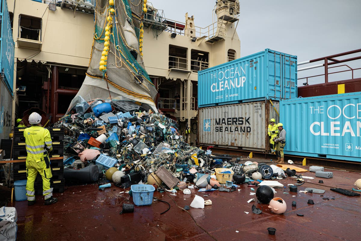 More than 31 tonnes of plastic trash removed from ocean off California