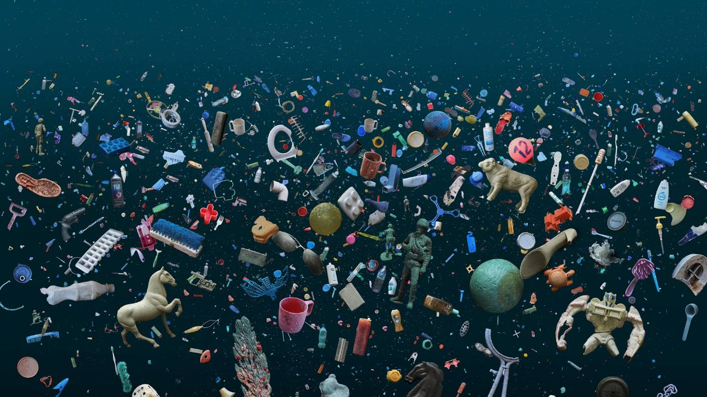 Photographs capture the deadly beauty of plastic pollution