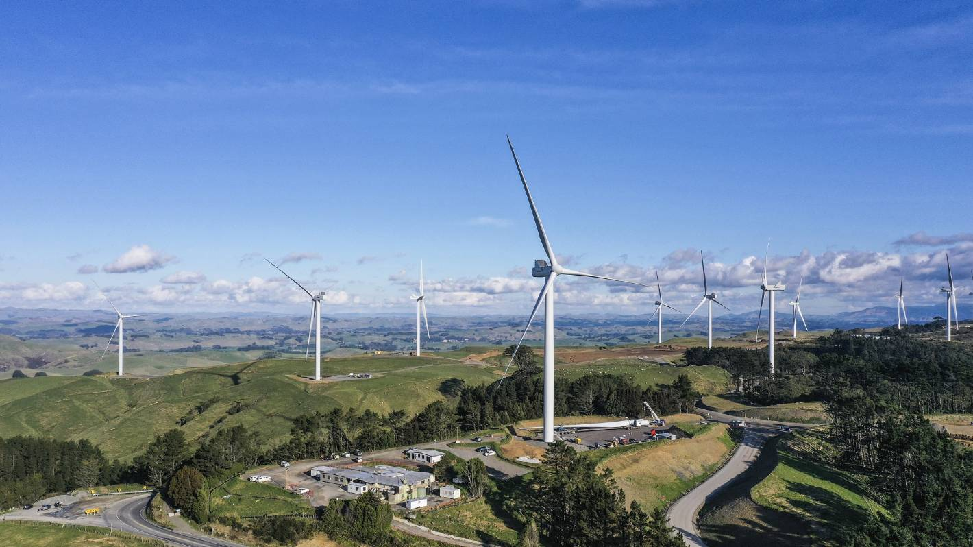 Turitea's first turbine catches a puff of wind to power up